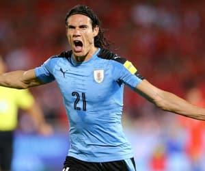 football, cavani, and uruguay image