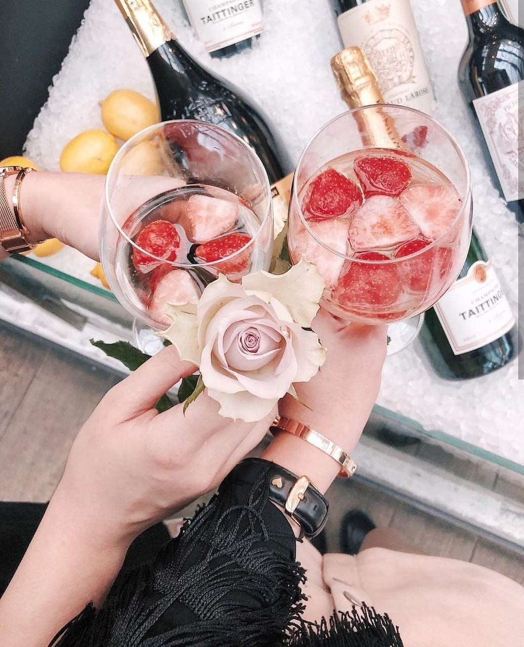 champagne, vodka, and chic image