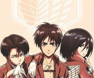anime, levi, and team image