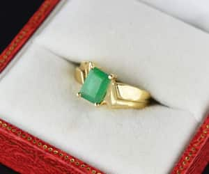 emerald, gold, and intage image