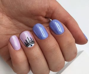 blue, cool, and manicure image