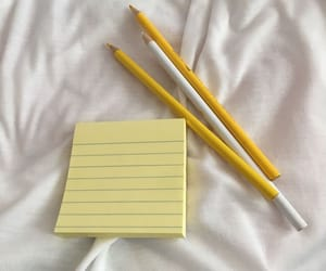 pencil, aesthetic, and yellow image