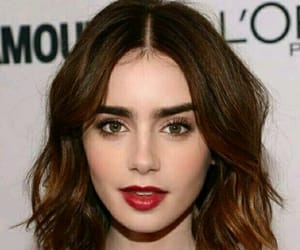 lily collins, lily, and makeup image