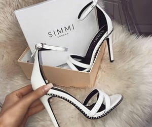 heels, pumps, and white image