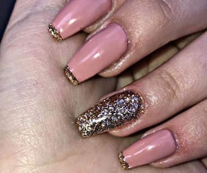 glow, pretty nails, and long nails image
