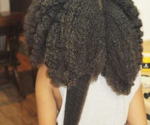 black hair, brown skin, and natural hair image