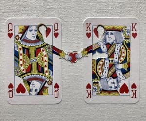 cards, king, and Queen image