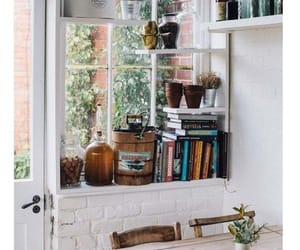 home, window, and books image