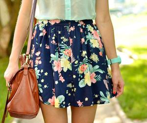 bag, brown bag, and floral image
