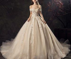 bridal, vintage wedding dress, and bridal gown image