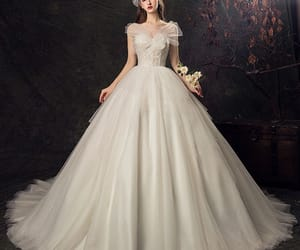 bridal gown, bride, and girl image