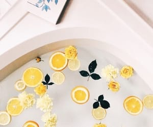 yellow, lemon, and bath image