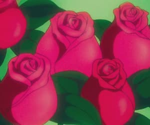 anime, gif, and roses image