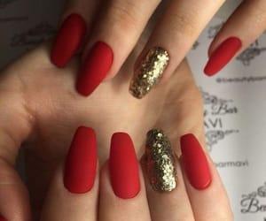 art, gold, and nails image
