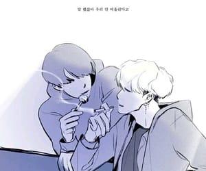 fanart, yoonkook, and 방탄소년단 image