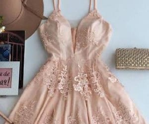 a-line prom dress, prom dress pink, and prom dress lace image