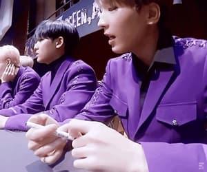 gif, kim mingyu, and Seventeen image
