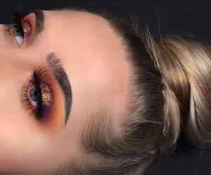 beauty, eye lashes, and eye makeup image