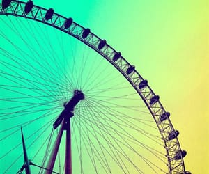 ferris wheel, green, and photography image