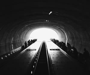 black and white, metro, and photography image