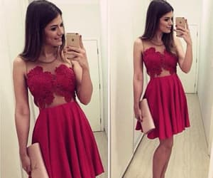 red prom dresses, prom dresses cheap, and short homecoming dress image