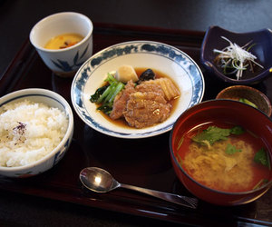 food, japanese food, and miso soup image