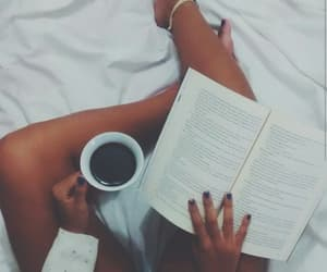book, coffe, and cold image