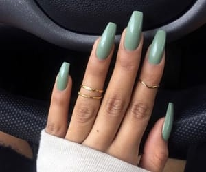 nails, green, and beauty image