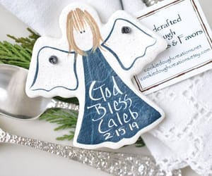 etsy, personalized, and christening favors image