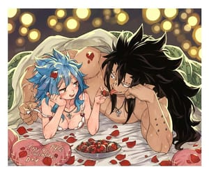 anime, fairy tail, and levy x gajeel image