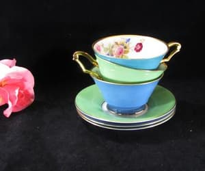etsy, gift for mom, and teacups and saucers image