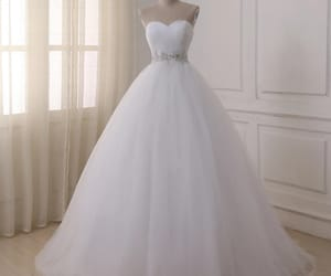 bride, dress, and smile image