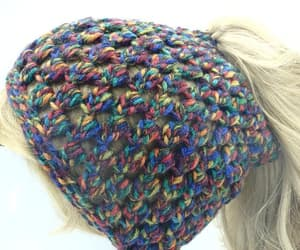 etsy, messy bun hat, and beanie for girls image