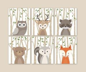 etsy, woodland animals, and baby boy nursery image