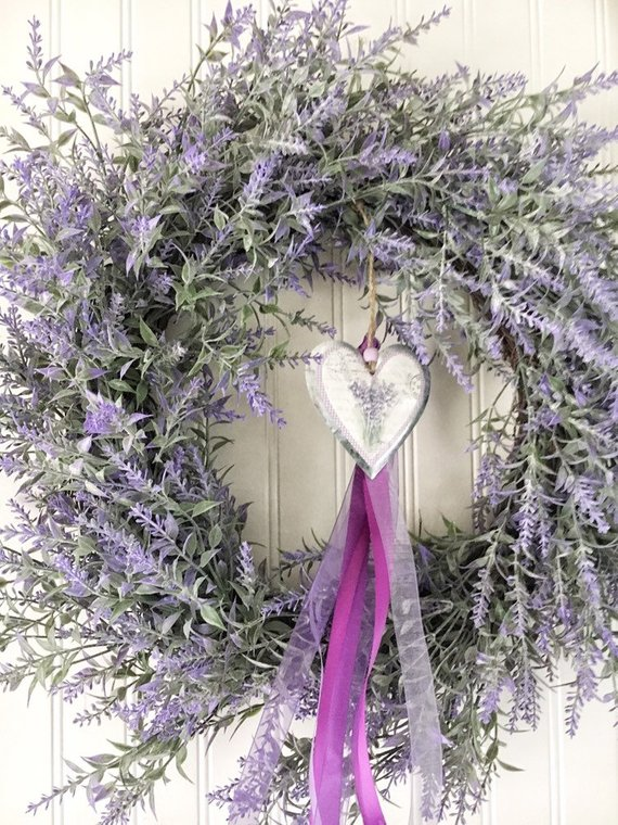 Lavender Spring And Summer Wreath French Country Home