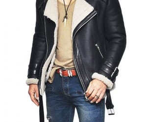 fashion, winter jacket, and men's outfit image