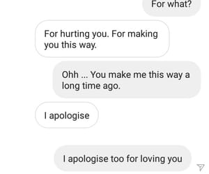 sad love, broke up, and love messages image