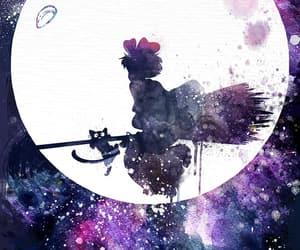ghibli and moon image
