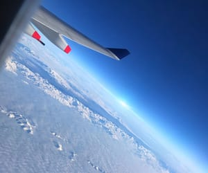 airplanes, flight, and sky image