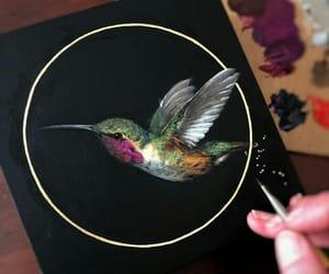 art, background, and bird image