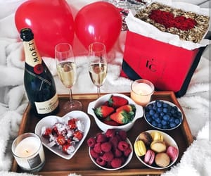 break fast, moet, and ballons image