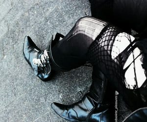 black, dark, and fishnet image