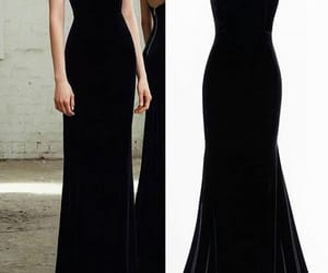 black, black dress, and dress image
