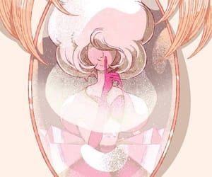 pearl, rose quartz, and steven universe image