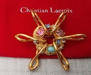 bijoux, Christian Lacroix, and etsy image