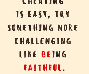 cheating and faithful image