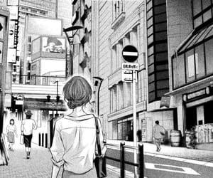 anime girl, monochrome, and mangacap image