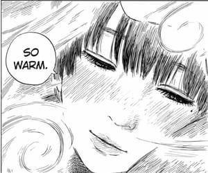 anime girl, girl, and monochrome image