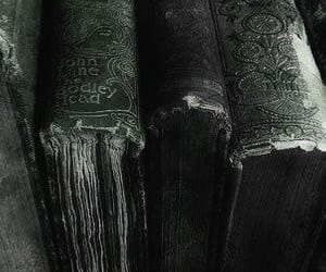 slytherin, books, and green image