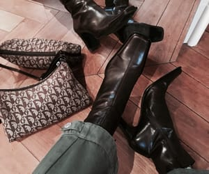 bag, boots, and heels image